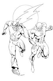 reverse flash coloring pages eliolera com