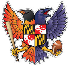 Maryland Flag Vinyl Baltimore Raven And Oriole Maryland Shield Sticker 5x4 75