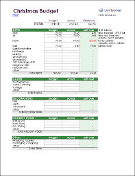 christmas gift and holiday spending budget worksheet