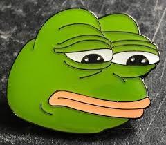 Frog Face Meme - pepe the frog pin badge kek kekistan dank même sad face 4chan