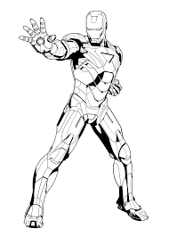 iron man cartoon coloring pages paginone biz