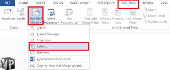 mail merge from excel how to make labels from excel spreadsheet youprogrammer