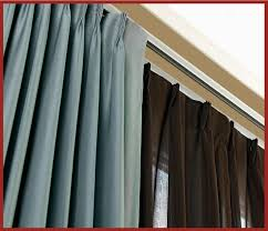 Metal Double Traverse Curtain Rod by Premium Traverse Rod Sets With Plain Carriers