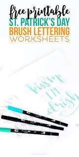 free printable st patrick u0027s day brush lettering worksheet