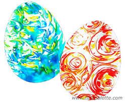foam easter eggs foam marbling craft kids crafts firstpalette