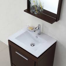 Bathroom Vanities And Mirrors Sets Buy Parma 24 In Single Bathroom Vanity Mirror Set In Iron Wood