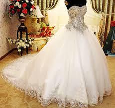 wedding dress crystal corset princess wedding dress crystal ball