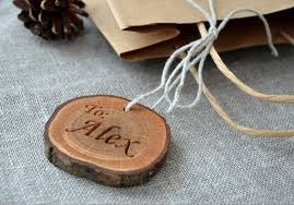 Wooden Wedding Gifts 4 00 Usd Personalized Wood Slice Gift Tag For Christmas Holiday