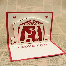 aliexpress buy propose a new 3 d cards wedding invitations