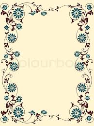 vektor flowers ornaments floral design for the frame stock