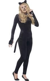 catsuit teen girls costume girls black cat halloween costume