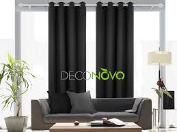 Blackout Curtains Black Deconovo Room Darkening Thermal Insulated Blackout