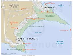 j bay south africa map cape st francis map