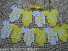 baby shower banner diy 10 bunting flags banners garland baby shower yellow unisex diy