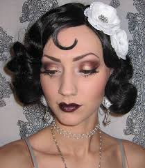 1920 s flapper makeup costume look