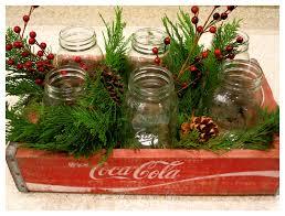 christmas coke crate as a centerpiece vintage coke christmas