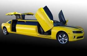 camaro limousine bumblebee camaro limo will transform your prom