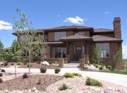 elegant frank lloyd wright prairie style with garage and home