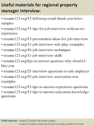 Regional Manager Resume Examples by Top 8 Regional Property Manager Resume Samples