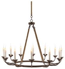 12 Light Chandeliers Consuelo Country Rustic Burlap Simple 12 Light Chandelier
