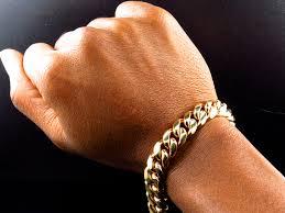 cuban link bracelet men images New mens solid handmade 10k yellow gold miami curb cuban link jpg
