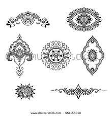 henna tattoo flower template mehndi style stock vector 551155018