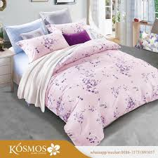 china manufacturers custom 100 polyester 110gsm printed bed