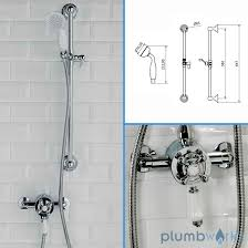 traditional bathroom mixer shower exposed round chrome traditional bathroom mixer shower exposed round chrome thermostatic