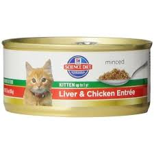 science diet kitten liver u0026 chicken entree minced cat food 5 5 oz