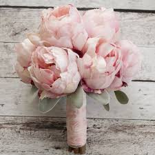 peony bouquet silk bouquet blush pink peony bouquet by kate said yes