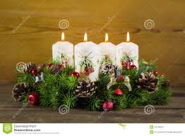 advent wreath candles advent wreath or crown with four burning white candles stock