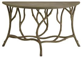 Outdoor Console Table Hidcote Faux Bois Console Accent Table Currey And Company