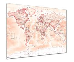 Large World Map Poster by World Map Posters From Love Maps On