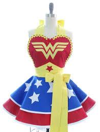 Baking Apron For Womens Retro Womens Apron Kitchen Apron Wonder Woman Superhero