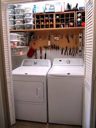 Laundry Room Storage Ideas For Small Rooms Small And Narrow Basement Laundry Room Combined With Wine