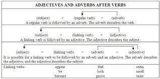 adjective after linking verbs skill 25 toefl preparation course