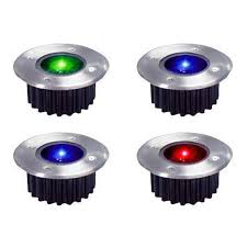 pack of 4 wireless solar powered rechargeable colour changing led