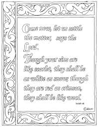 coloring pages for kids by mr adron isaiah 1 18 bible verse