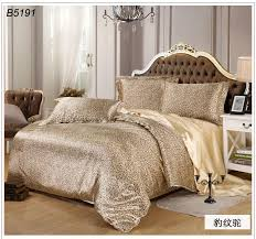 Leopard Bed Set Leopard Print Silk Bedding Set Cooleye Tencel Bedclothes Satin Bed