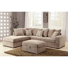 coaster chenille glider and ottoman in chocolate coaster company taupe chenille cushioned sectional free shipping