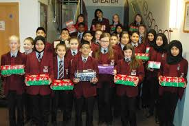 keighley u0027s holy family pupils donate gifts to needy