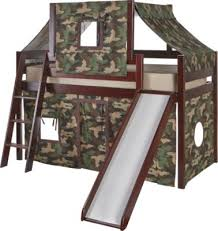 Rooms To Go Kids Loft Bed by Shop For A Camo Cabin Cherry Loft Bed W Slide And Tent At Rooms To