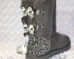 womens ugg boots with buckle bling uggs etsy