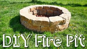 Build A Backyard Fire Pit by Diy Stone Fire Pit Youtube
