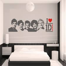 Poster Wallpaper For Bedrooms Diy Black Wall Sticker One Direction Poster Girls Bedroom Home