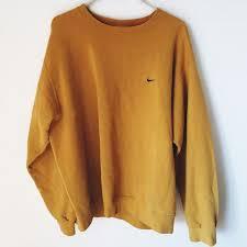 nike sweaters vintage yellow nike crewneck sweatshirt vintage yellow