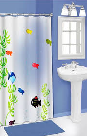 Shower Curtains With Fish Theme Popular Bath Fish Bowl 3d Shower Curtain Fish Theme Bathroom