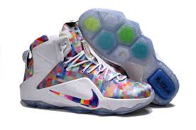 nike lebron 12 ext prism multi color white buy now
