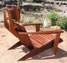 Redwood Adirondack Chair Mid Century Modern Adirondack Chair Reclaimed Redwood