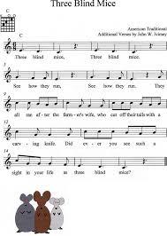 Three Blind Mice Piano Notes Betty U0027s Music Some One Chord American Folk Songs Betty U0027s Music